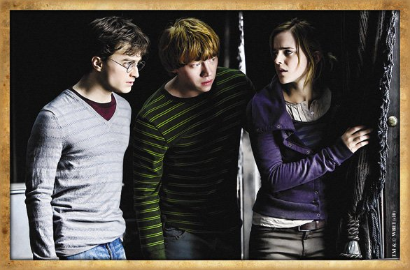 Harry Ron And Hermione Hugging Harry Ron And Hermione at
