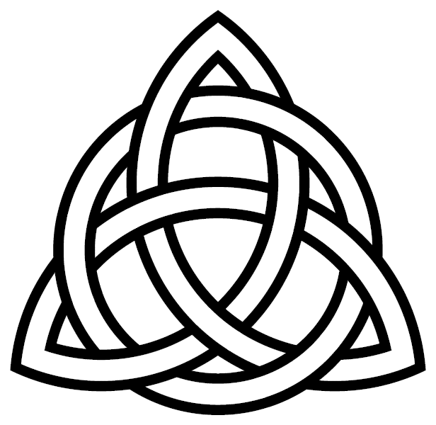 The Celtic symbol of the Holy Trinity combines the triangle and circle