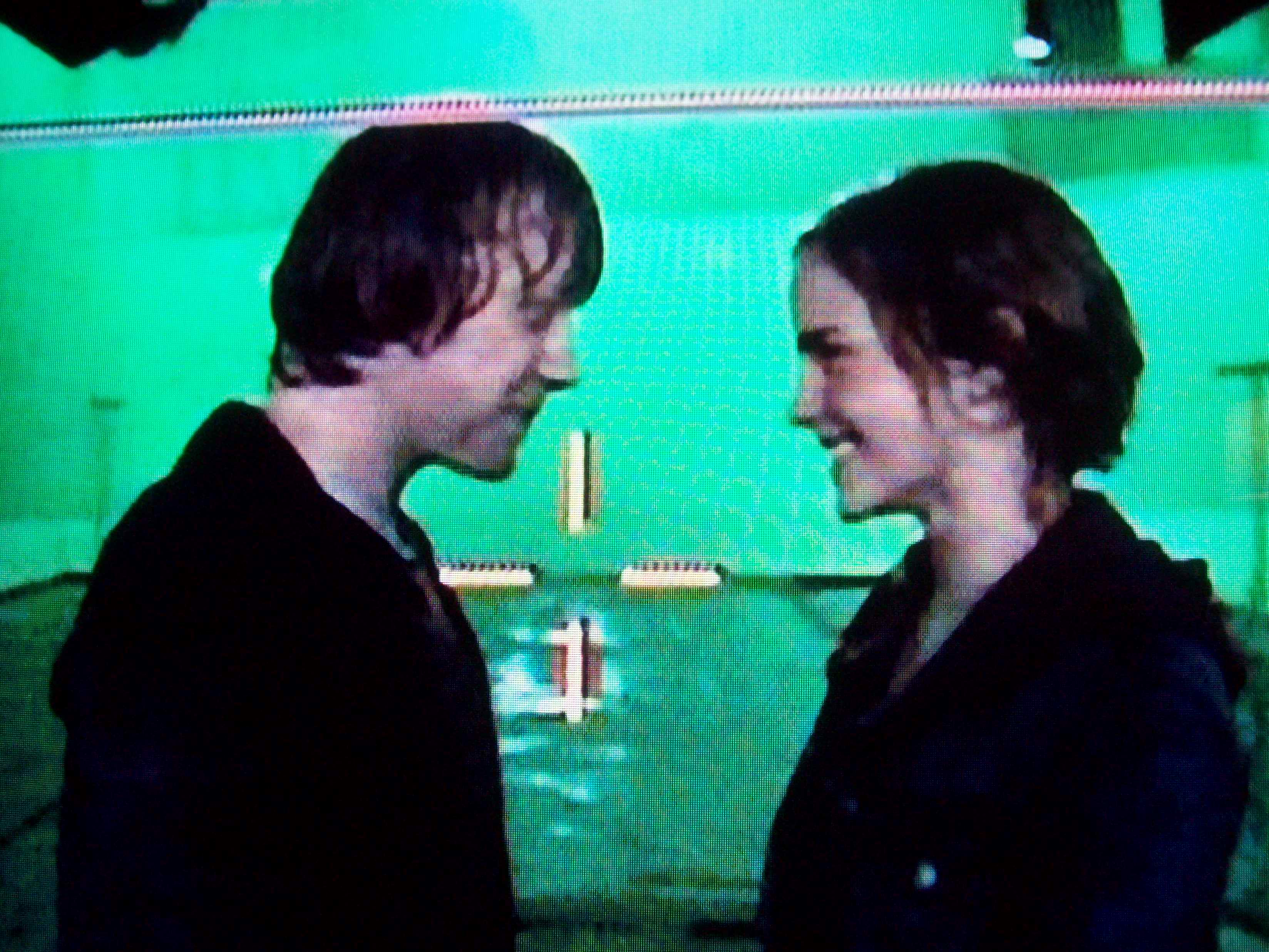 Harry potter 7 part 1 hermione and harry kiss.