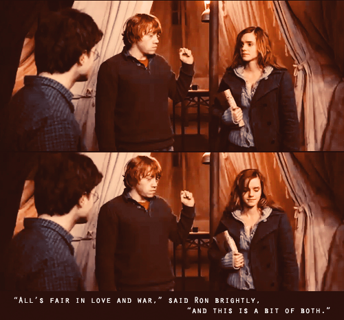 "Ron/Hermione: Gathering Stones By The Lake And ""All's Fair"