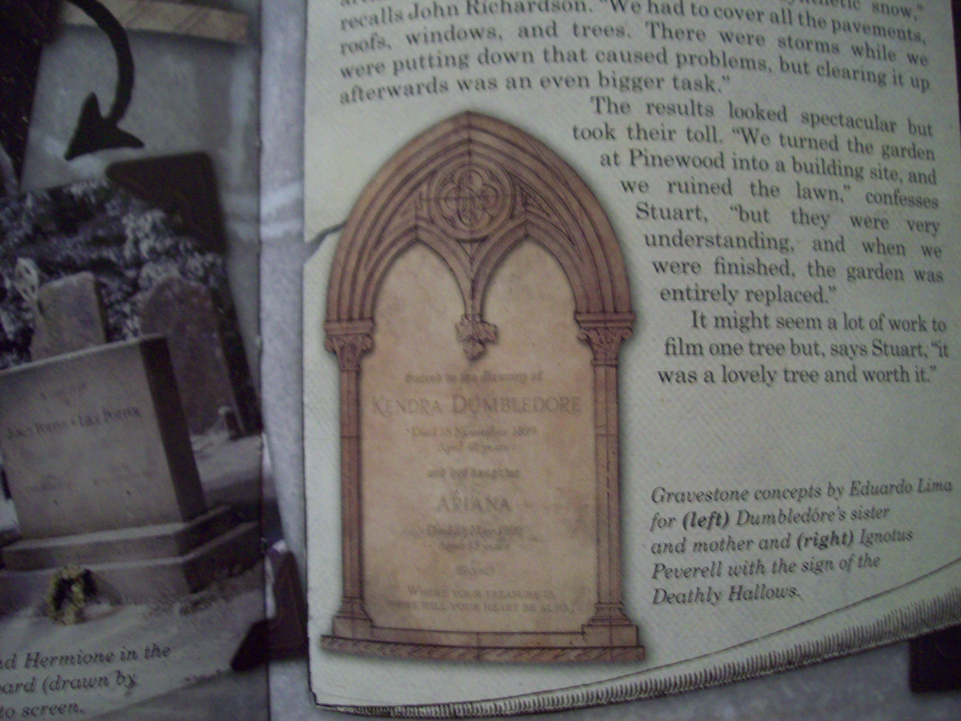 James And Lily Potter Grave Christmas in harry potter and