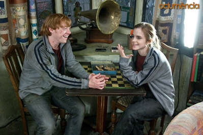 Rupert Grint As Ron And Emma Watson Hermione Relaxing At The Burrow